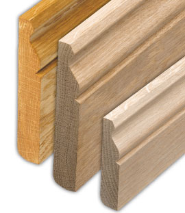 Solid oak skirting board image